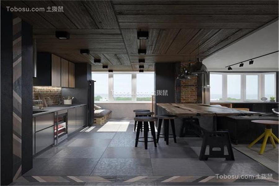 2019工业餐厅效果图 2019工业背景墙装修图