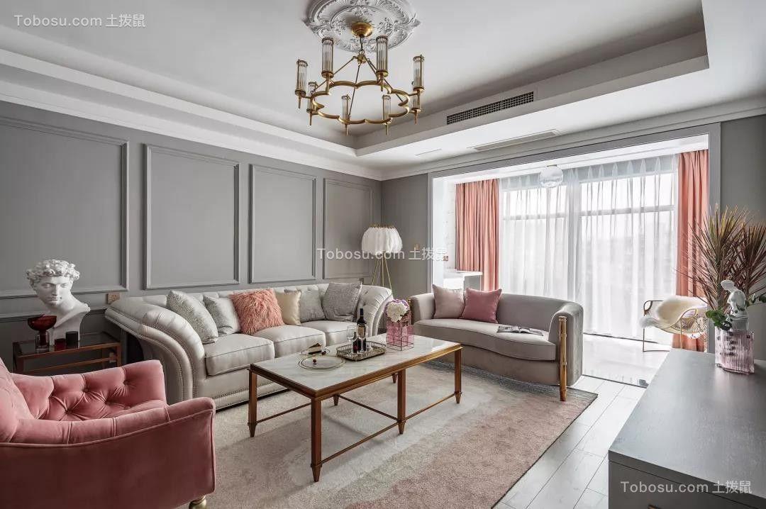 126㎡轻奢美式3室2厅,打造一见倾心的优雅风范