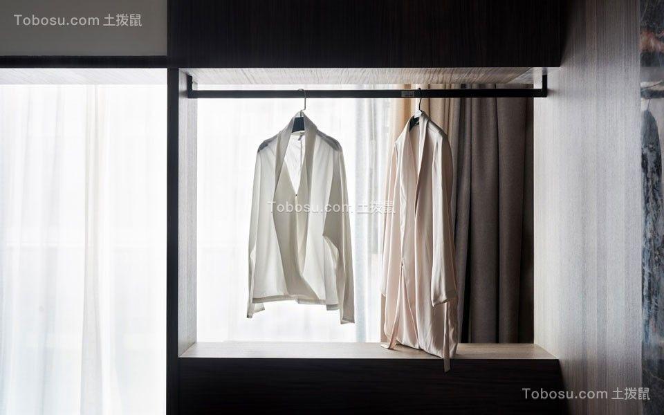 2020现代简约衣帽间装修效果图片 2020现代简约窗帘装修设计图片