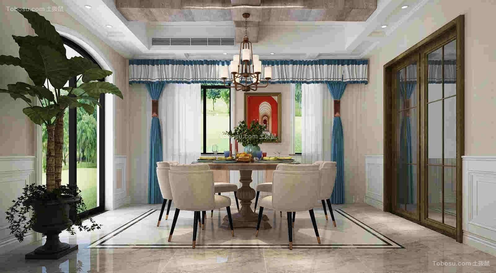 绿城桃花源独栋别墅280平四室两厅现代美式混搭风格
