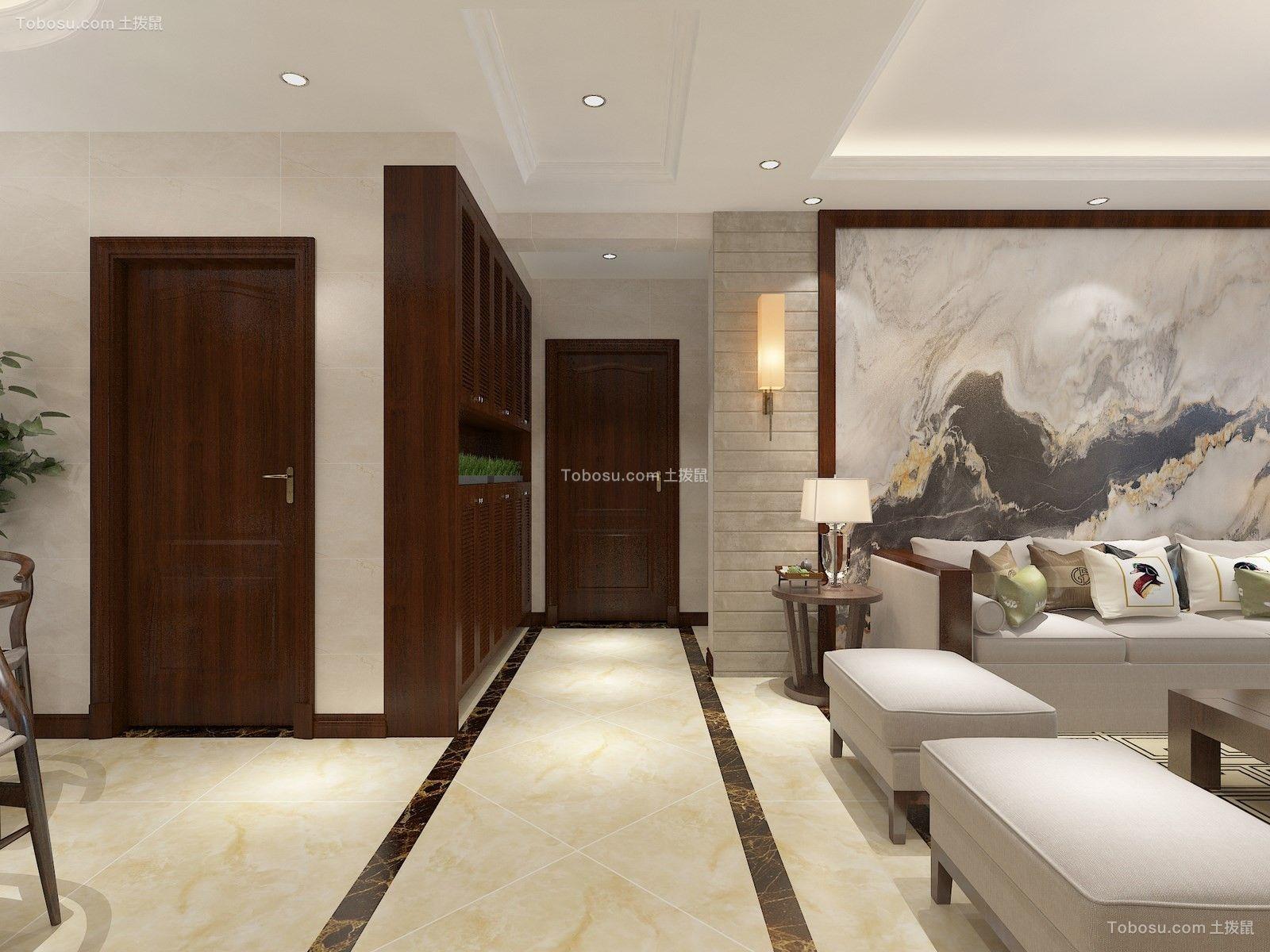 2021新中式客厅装修设计 2021新中式过道图片