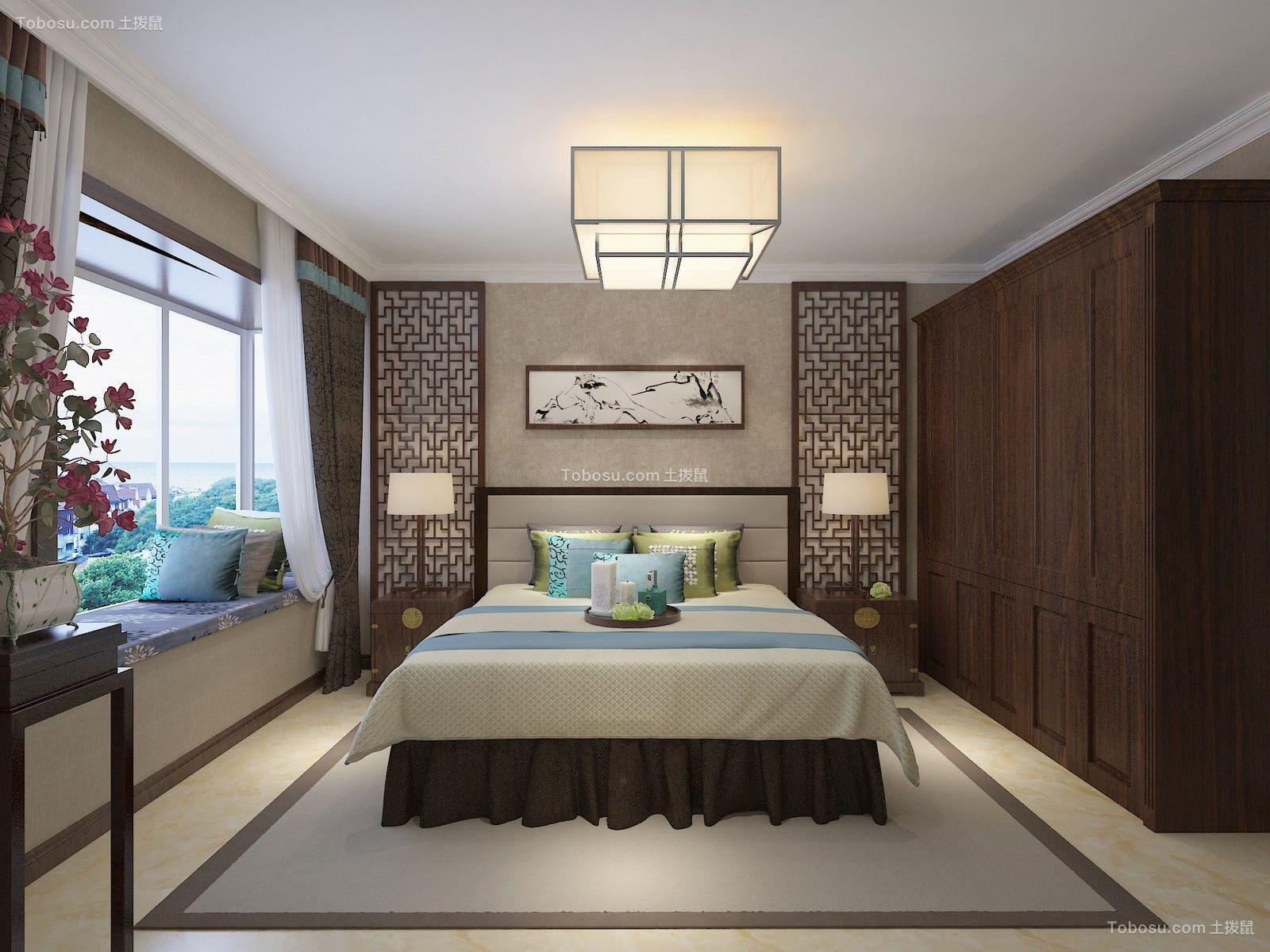 2021新中式卧室装修设计图片 2021新中式飘窗图片