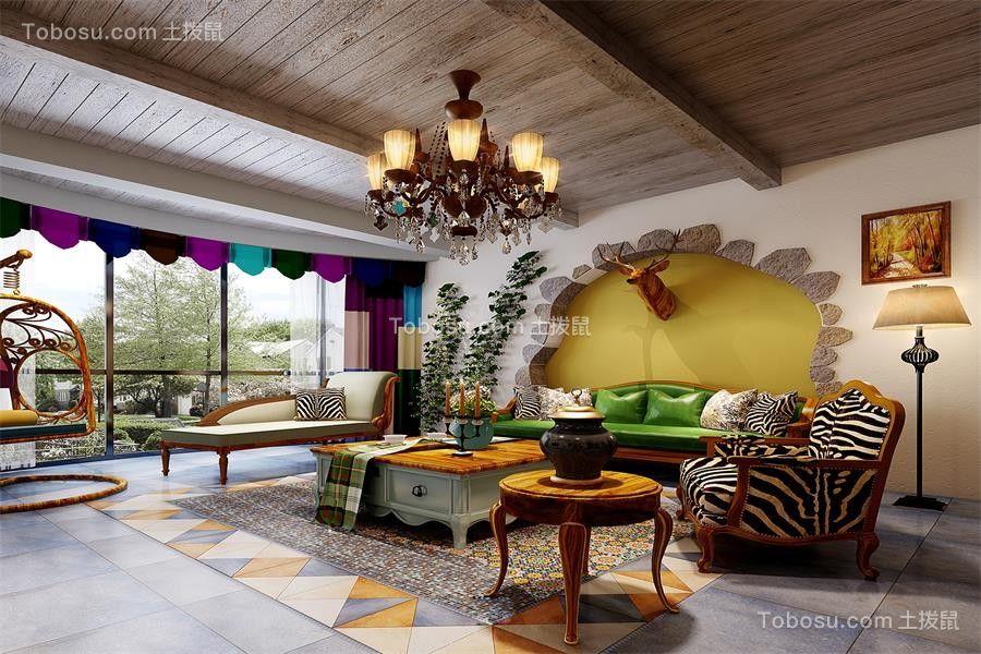 2020地中海客厅装修设计 2020地中海背景墙图片