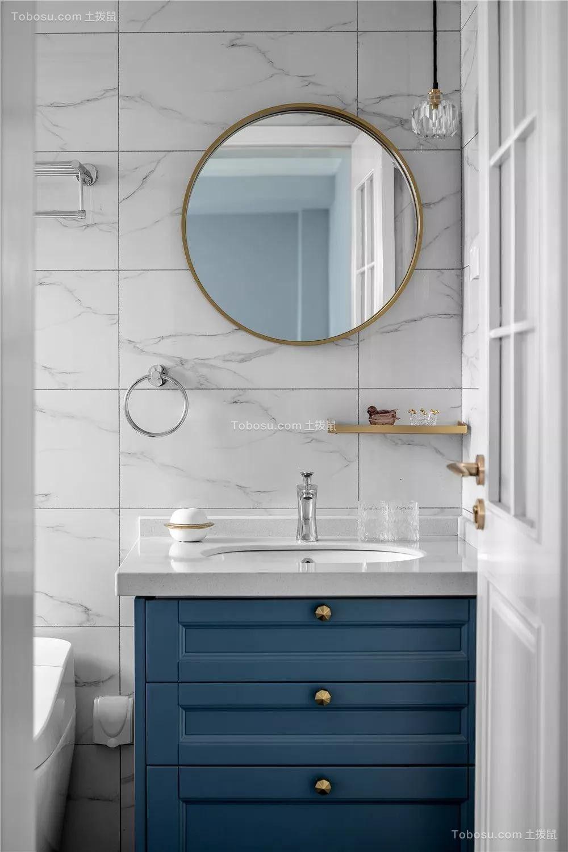 2021美式卫生间装修图片 2021美式背景墙装修图片