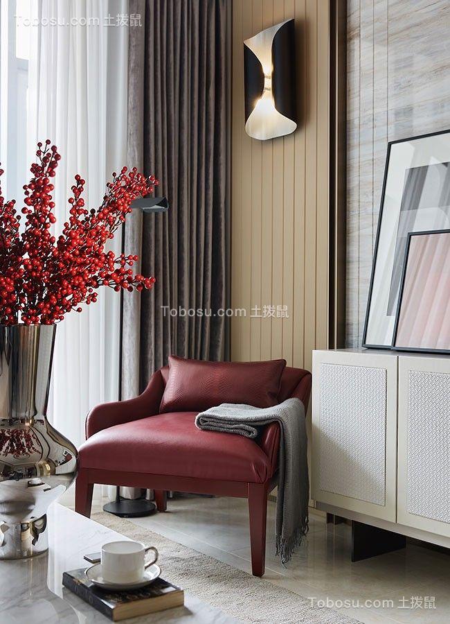 2020现代简约客厅装修设计 2020现代简约窗帘装修效果图片