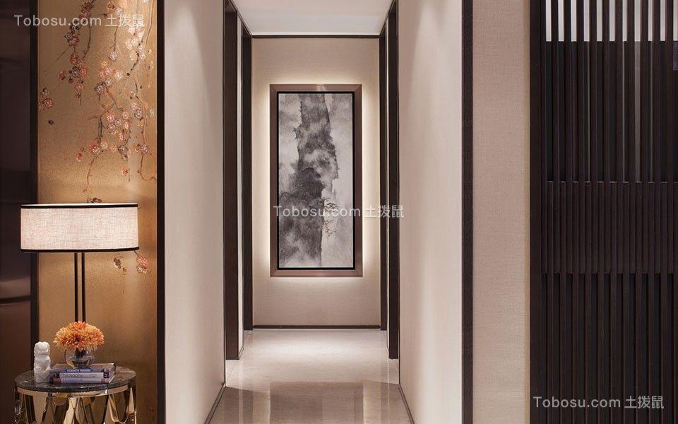 2019新中式客厅装修设计 2019新中式走廊装修效果图大全