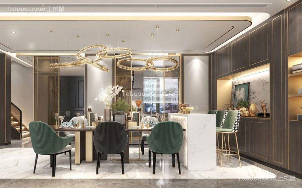 2021美式餐厅效果图 2021美式餐桌装修图片