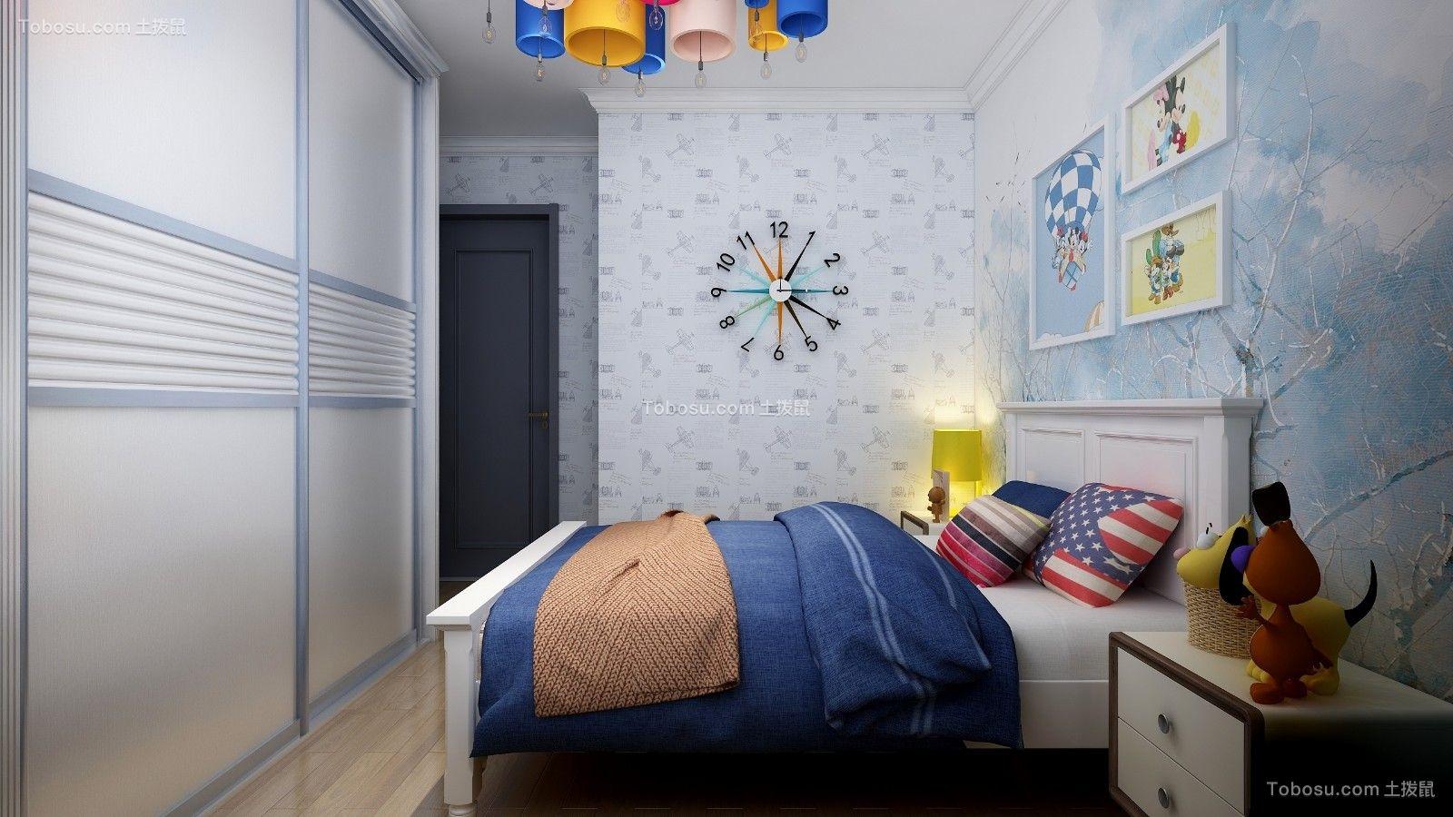 2020现代简约儿童房装饰设计 2020现代简约床装修效果图片
