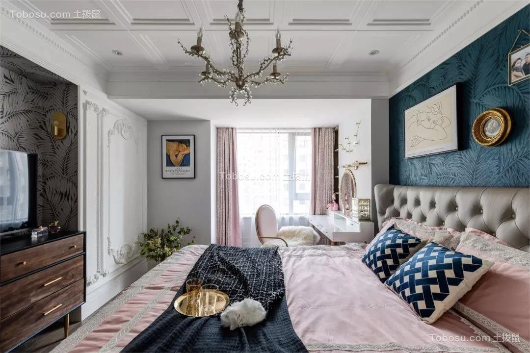 124㎡轻奢法式3室2厅,轻盈唯美演绎优雅风尚