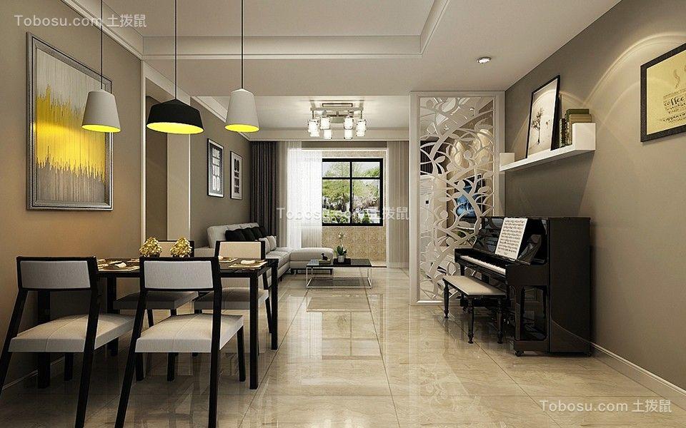 财富中心100平现代简约风格装修设计效果图赏析