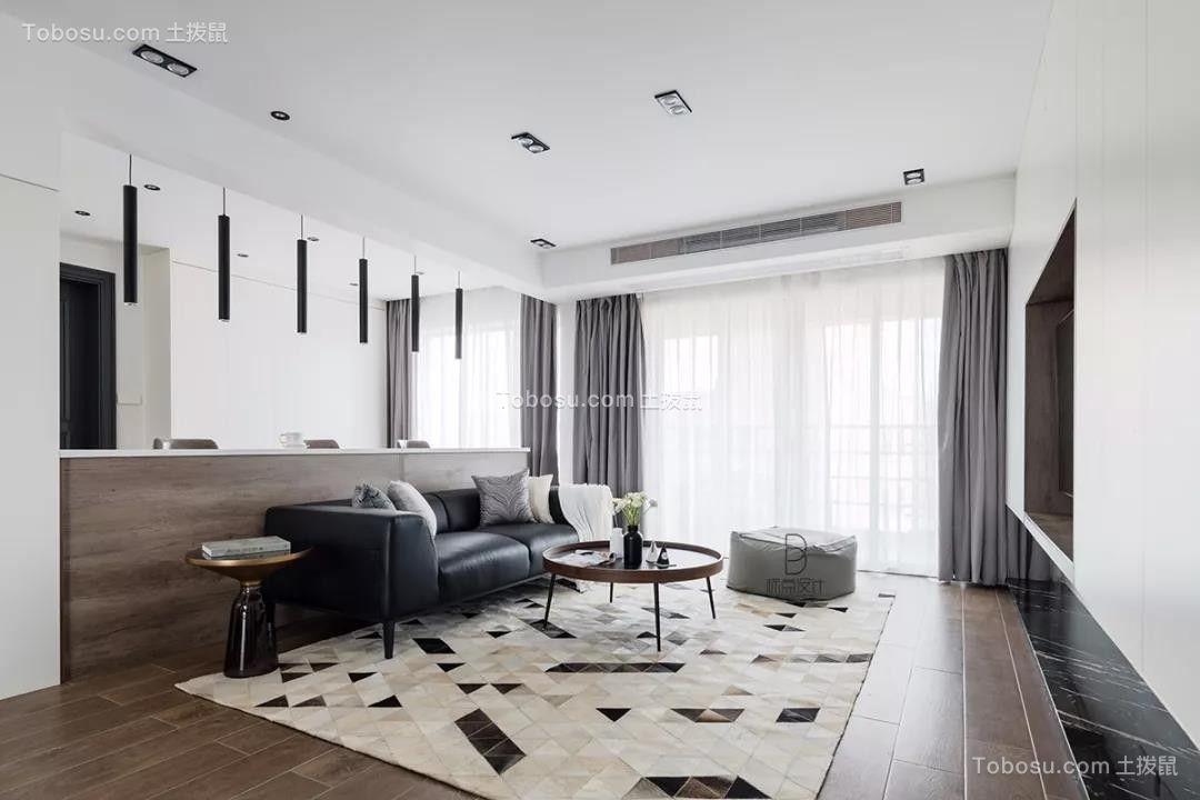 太原市国雅城139平黑白灰现代简约装饰效果图