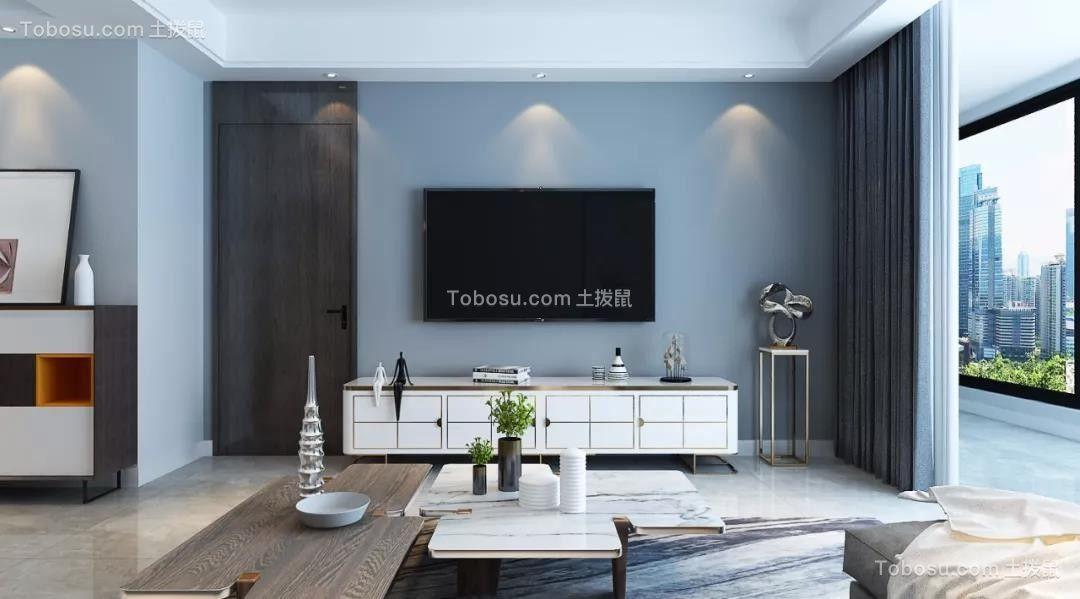 2021现代客厅装修设计 2021现代电视柜装修效果图片