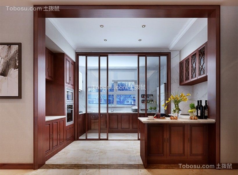 2020新中式厨房装修图 2020新中式推拉门装修设计