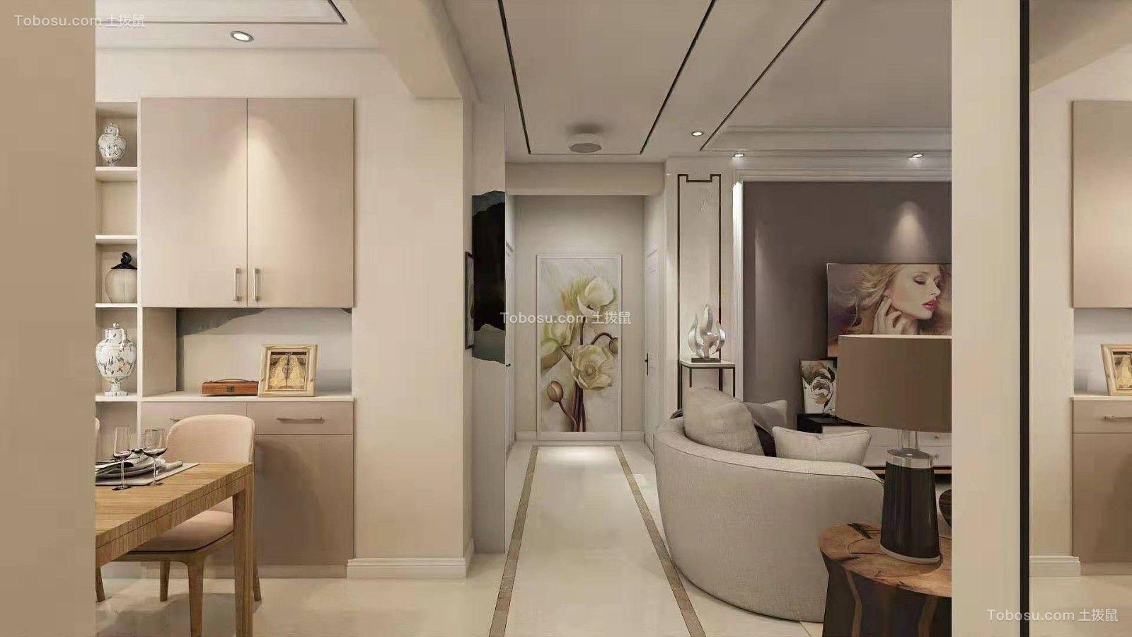 2019欧式客厅装修设计 2019欧式走廊装修效果图大全