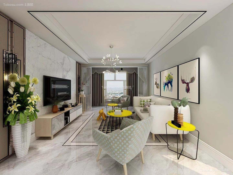 2021欧式客厅装修设计 2021欧式照片墙装修效果图大全