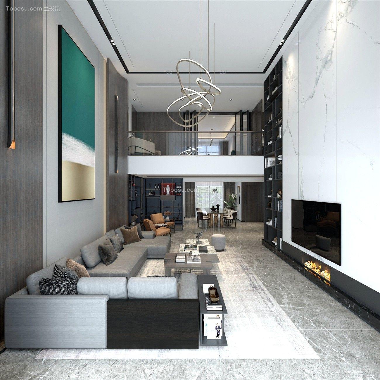 300平挑空别墅现代风格设计案例