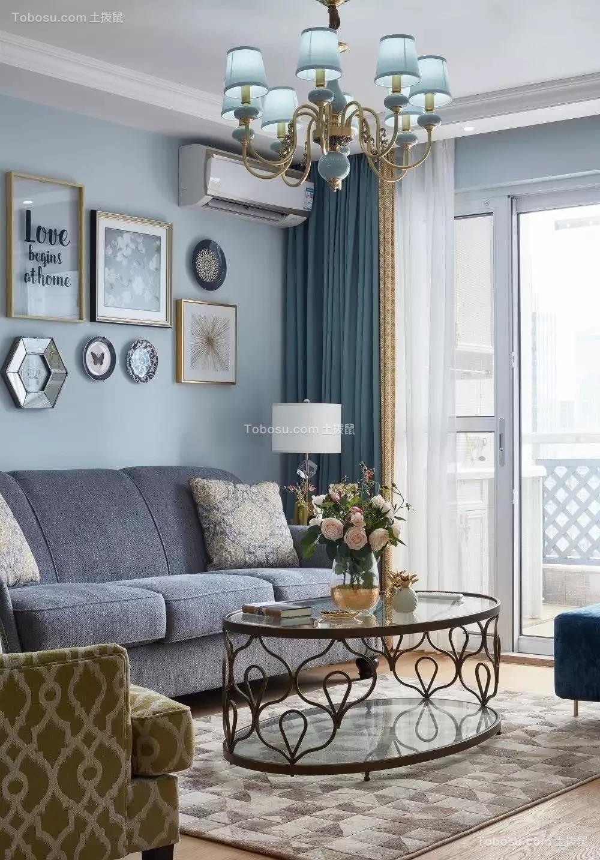 135㎡美式风格装修,用Tiffany蓝打造清新浪漫家居空间,美醉了!