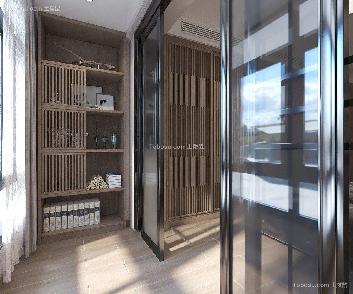 2020中式阳台装修效果图大全 2020中式推拉门装修设计图片