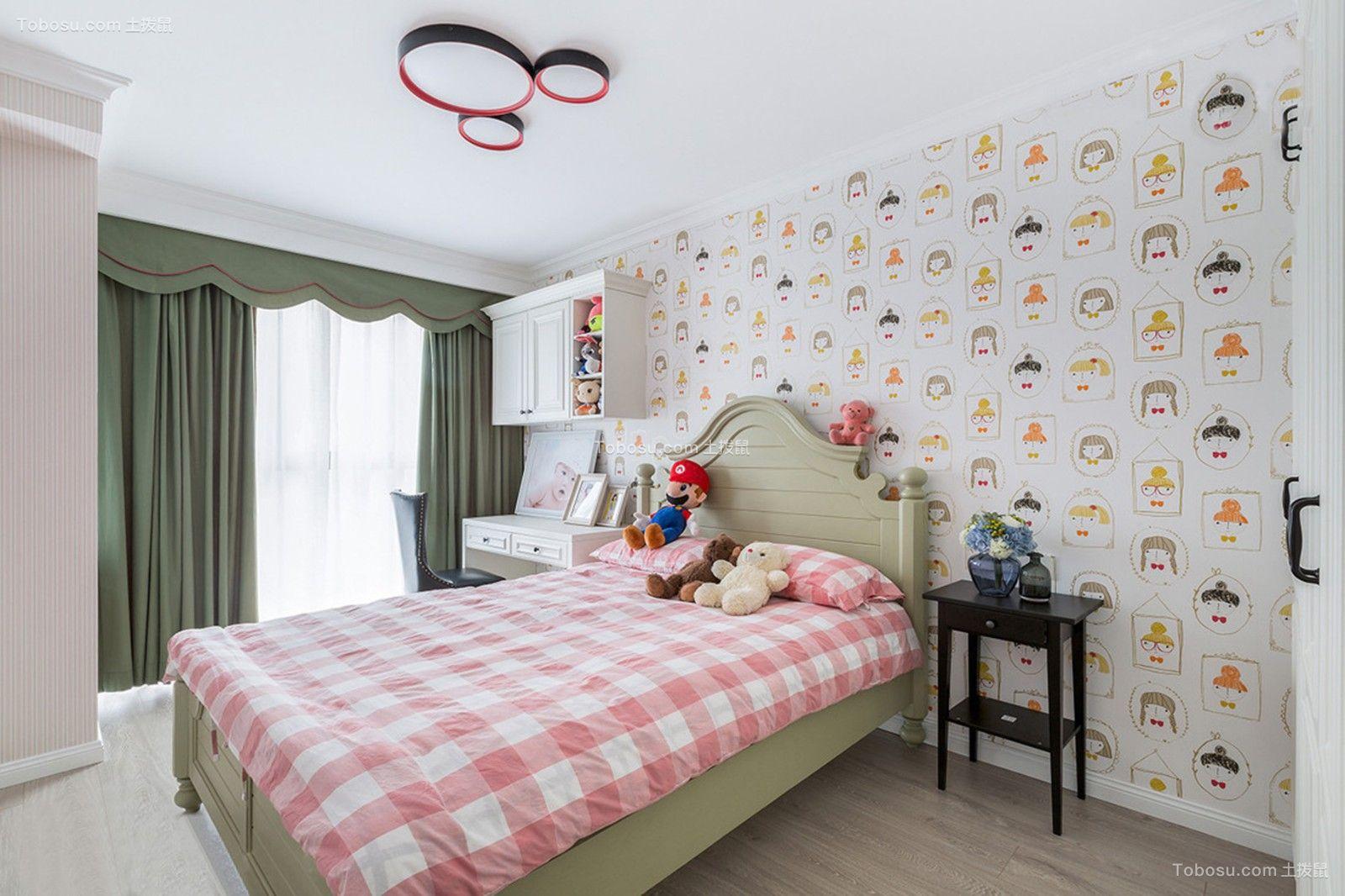 2020美式儿童房装饰设计 2020美式窗帘图片