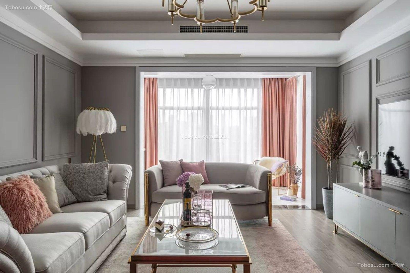 盛达.国际新城  126㎡轻奢美式3室2厅,打造一见倾心的优雅风范!