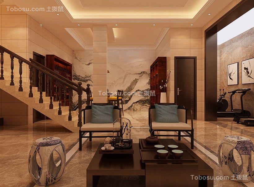 2020中式客厅装修设计 2020中式地板效果图