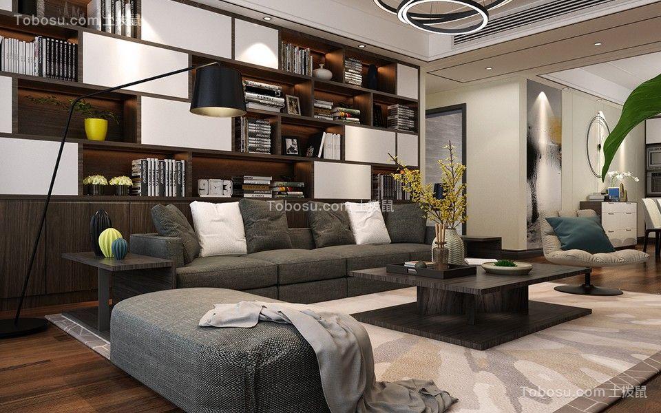 2021新中式客厅装修设计 2021新中式书架装修图