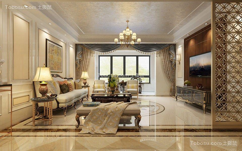 2020欧式客厅装修设计 2020欧式地板效果图