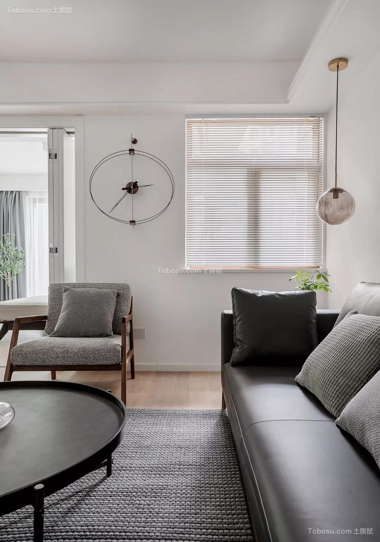 2020现代客厅装修设计 2020现代窗帘装修效果图片