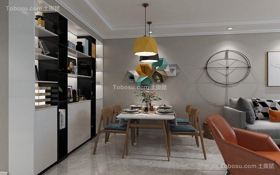 2020北欧餐厅效果图 2020北欧博古架装饰设计
