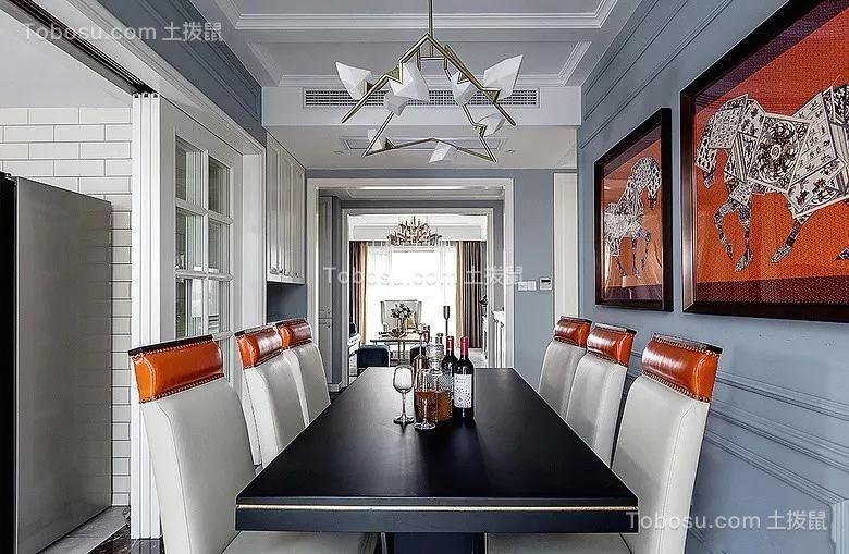 2019美式餐厅效果图 2019美式背景墙装修图
