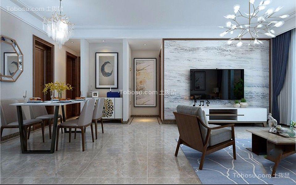 2020新中式客厅装修设计 2020新中式地板砖设计图片