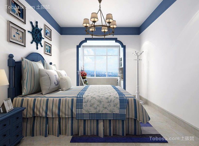 2020地中海卧室装修设计图片 2020地中海床图片