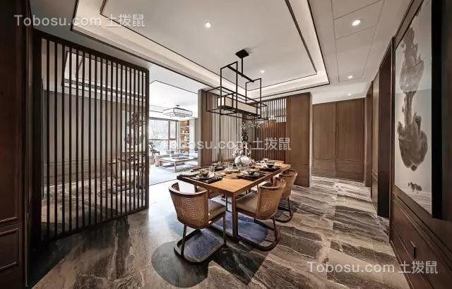 2020新中式餐厅效果图 2020新中式地板装修效果图片