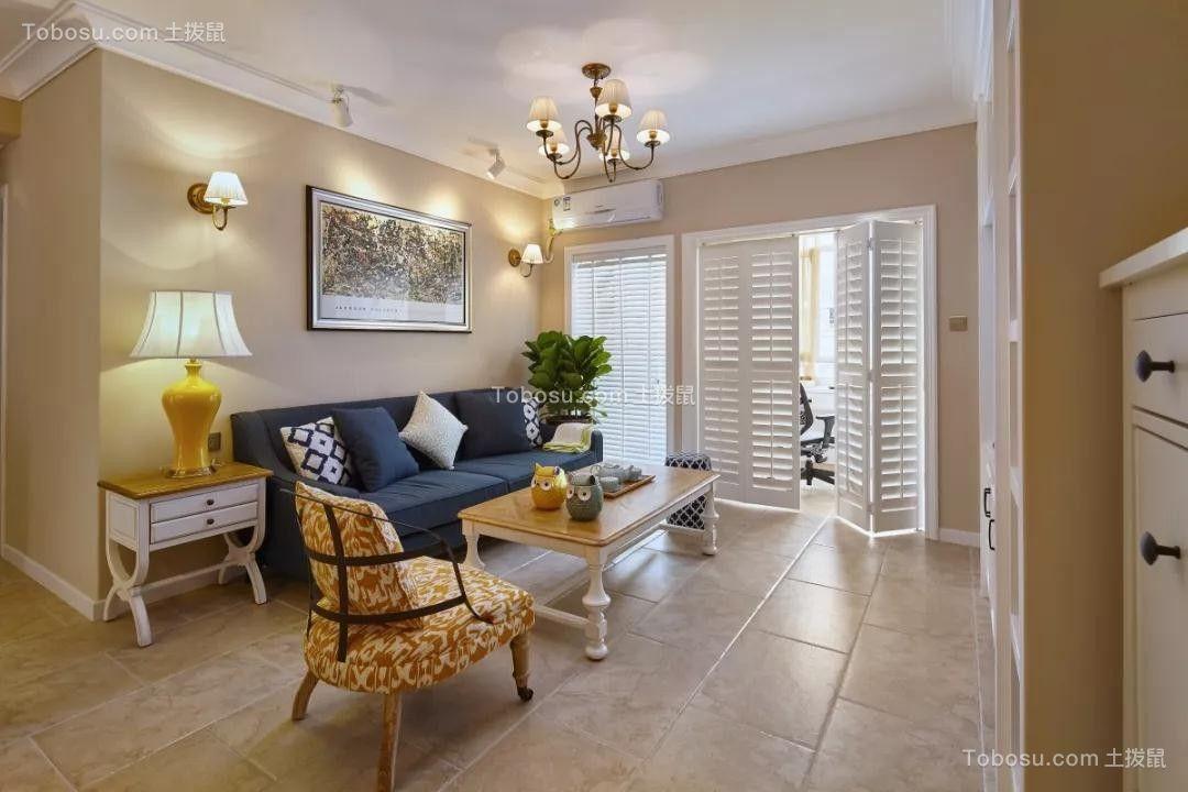 2020法式客厅装修设计 2020法式窗帘装修效果图片