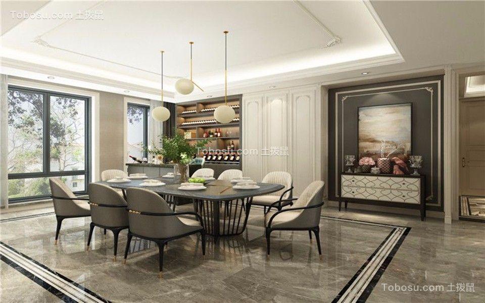 名悦山庄214平大户型四室二厅现代混搭装修效果图