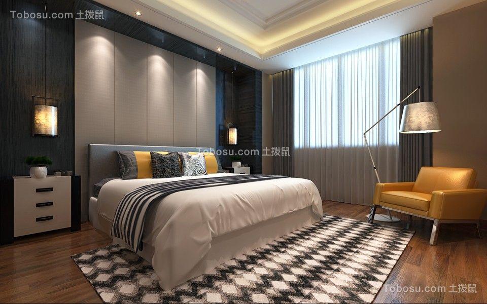 卧室背景墙新中式装修图片图片