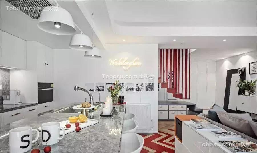 """92㎡Loft公寓装修,后现代""""悬浮""""楼梯能做玄关能储物,大写的服气!"""