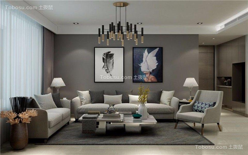 名悦山庄140平中户型三室二厅现代装修效果图