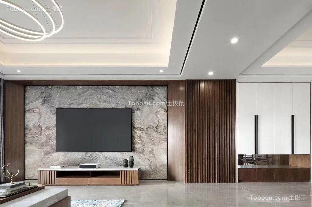 2020新中式客厅装修设计 2020新中式电视背景墙装修设计图片