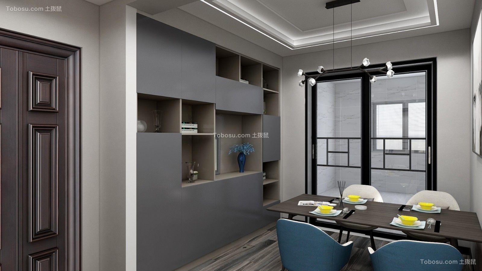 2021现代简约餐厅效果图 2021现代简约博古架装饰设计