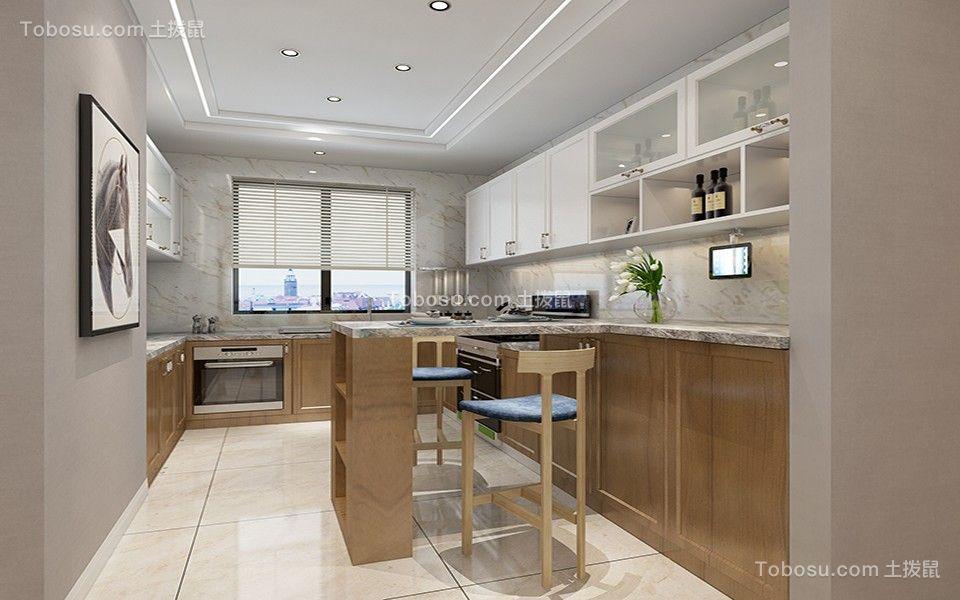 2020简约厨房装修图 2020简约吧台装修设计图片