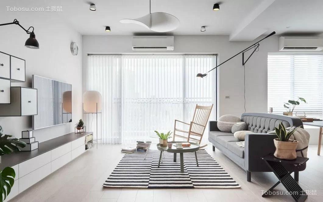 2020北欧客厅装修设计 2020北欧地板效果图