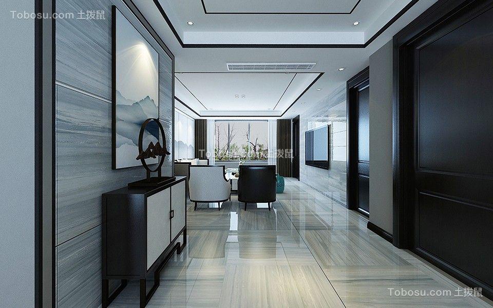 财富中心170平新中式风格装修效果图-大业美家装饰