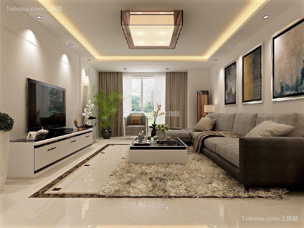 色彩素雅,110平米全包现代风格