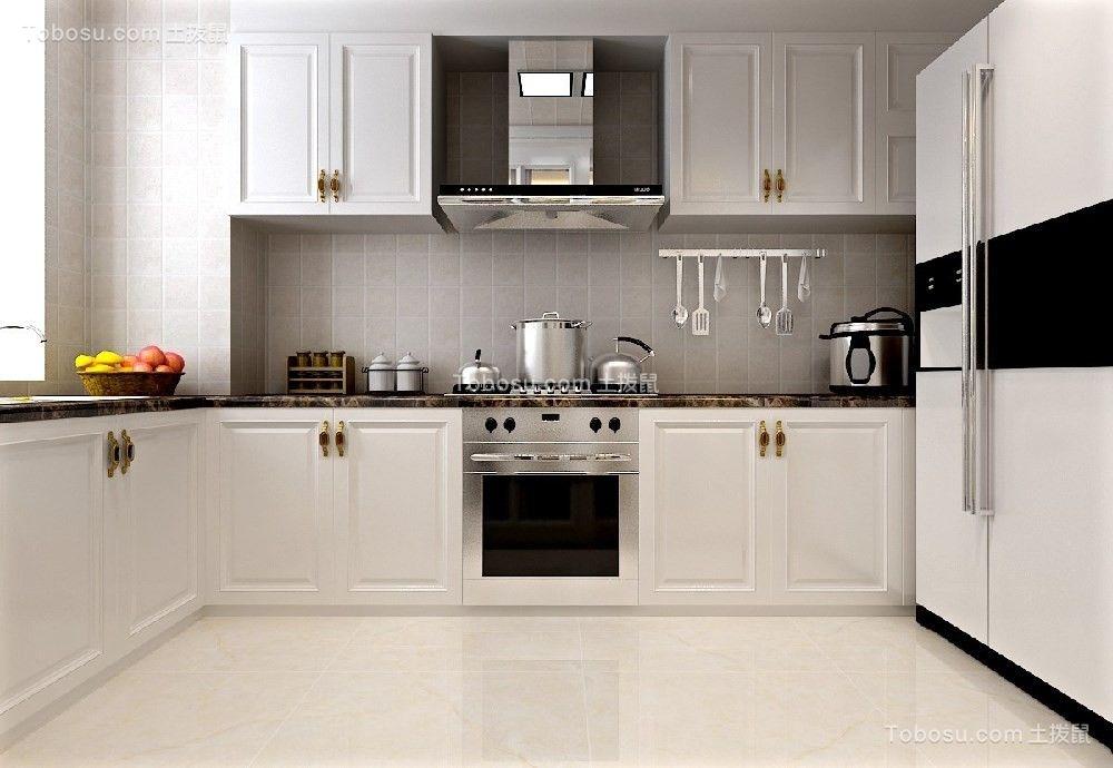 2020现代简约厨房装修图 2020现代简约厨房岛台装饰设计