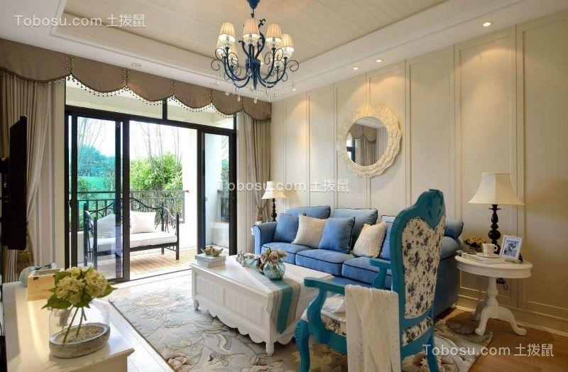 110㎡欧式风格三居室装修案例
