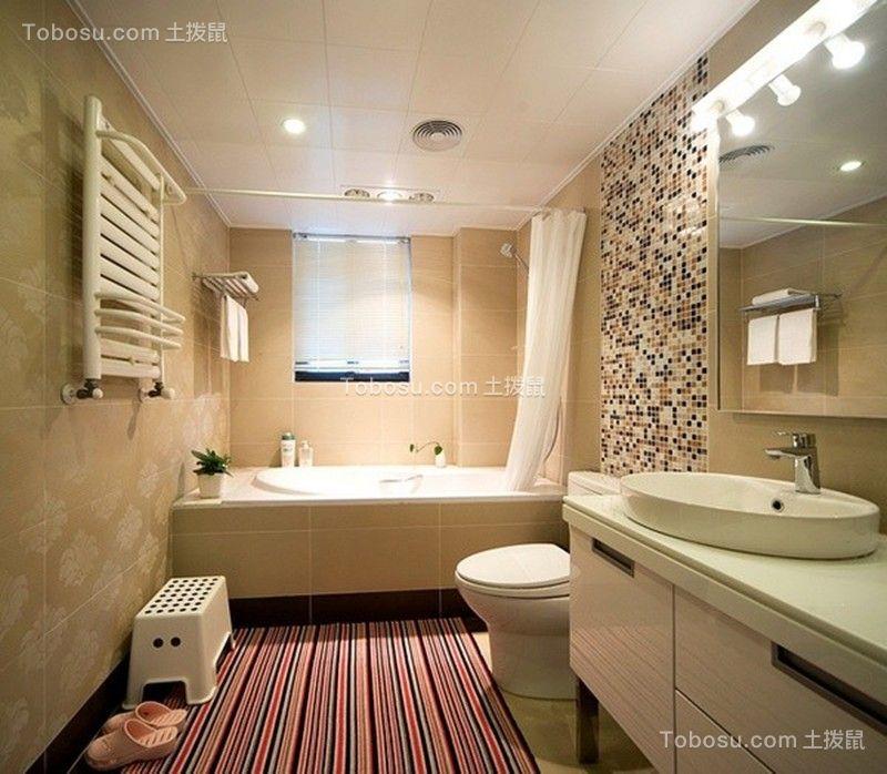 110平米欧式风格三居室装修案例
