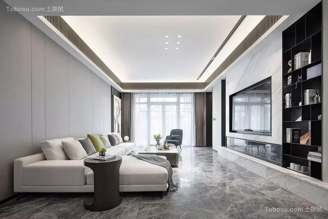 2020韩式客厅装修设计 2020韩式吊顶设计图片