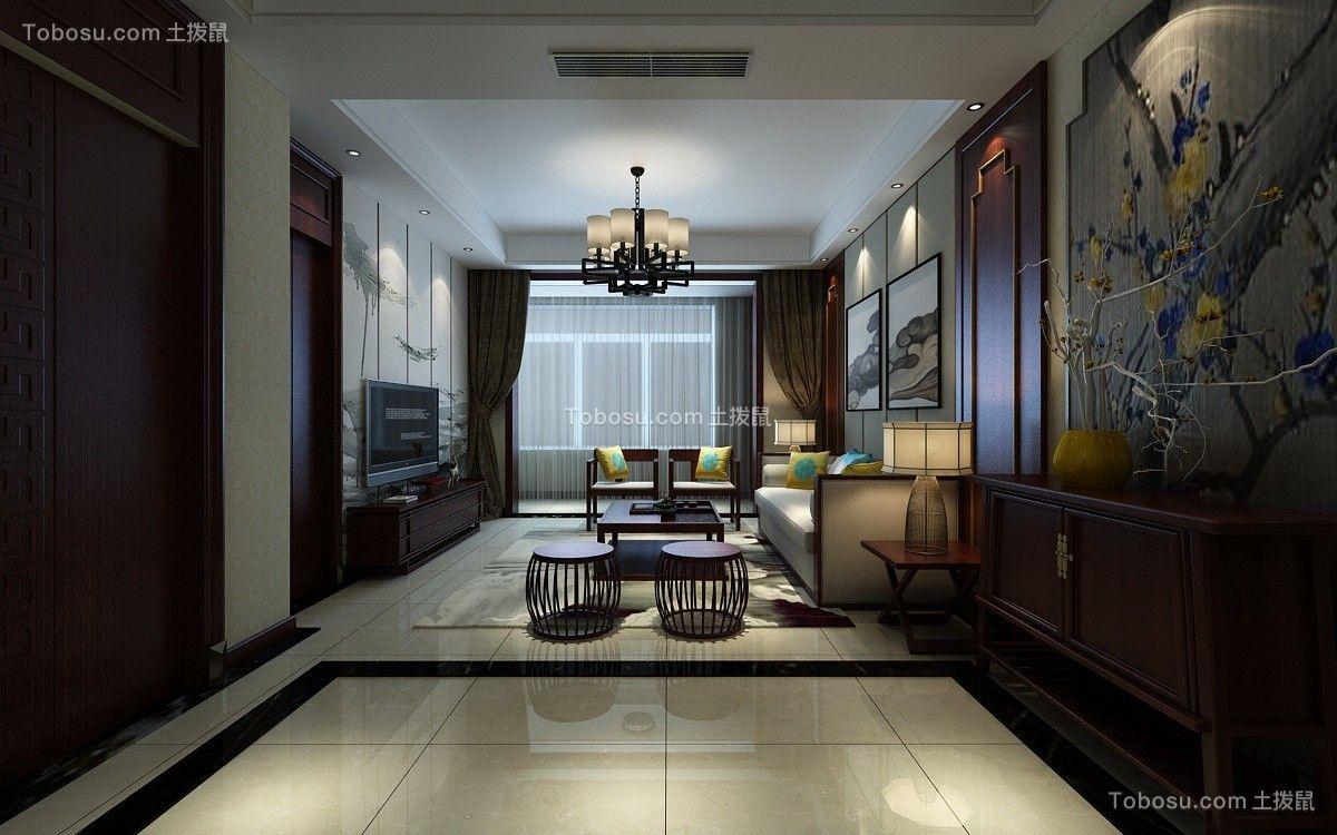 财富中心140平中式风格装修设计