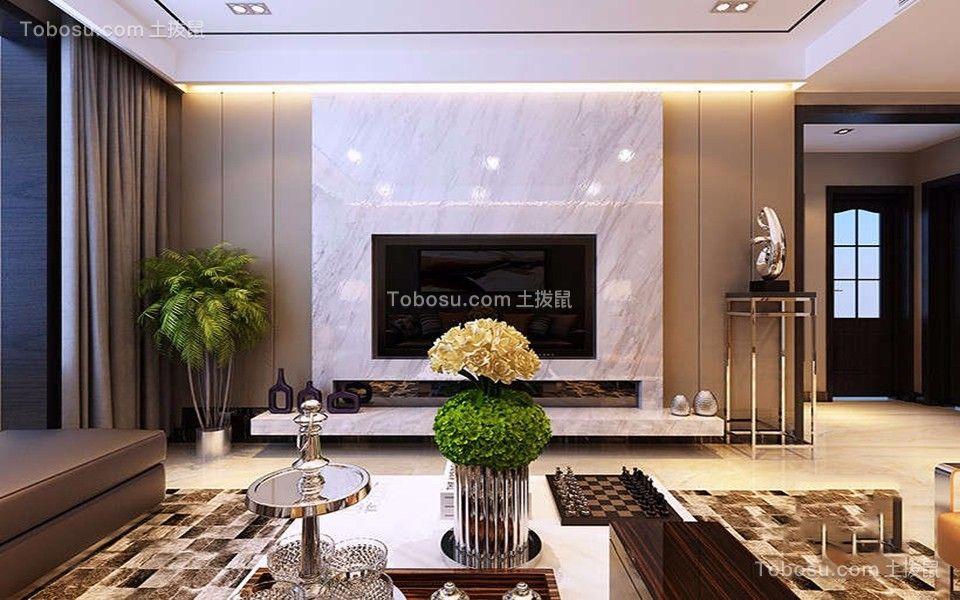 2020现代简约卧室装修设计图片 2020现代简约电视背景墙装修图
